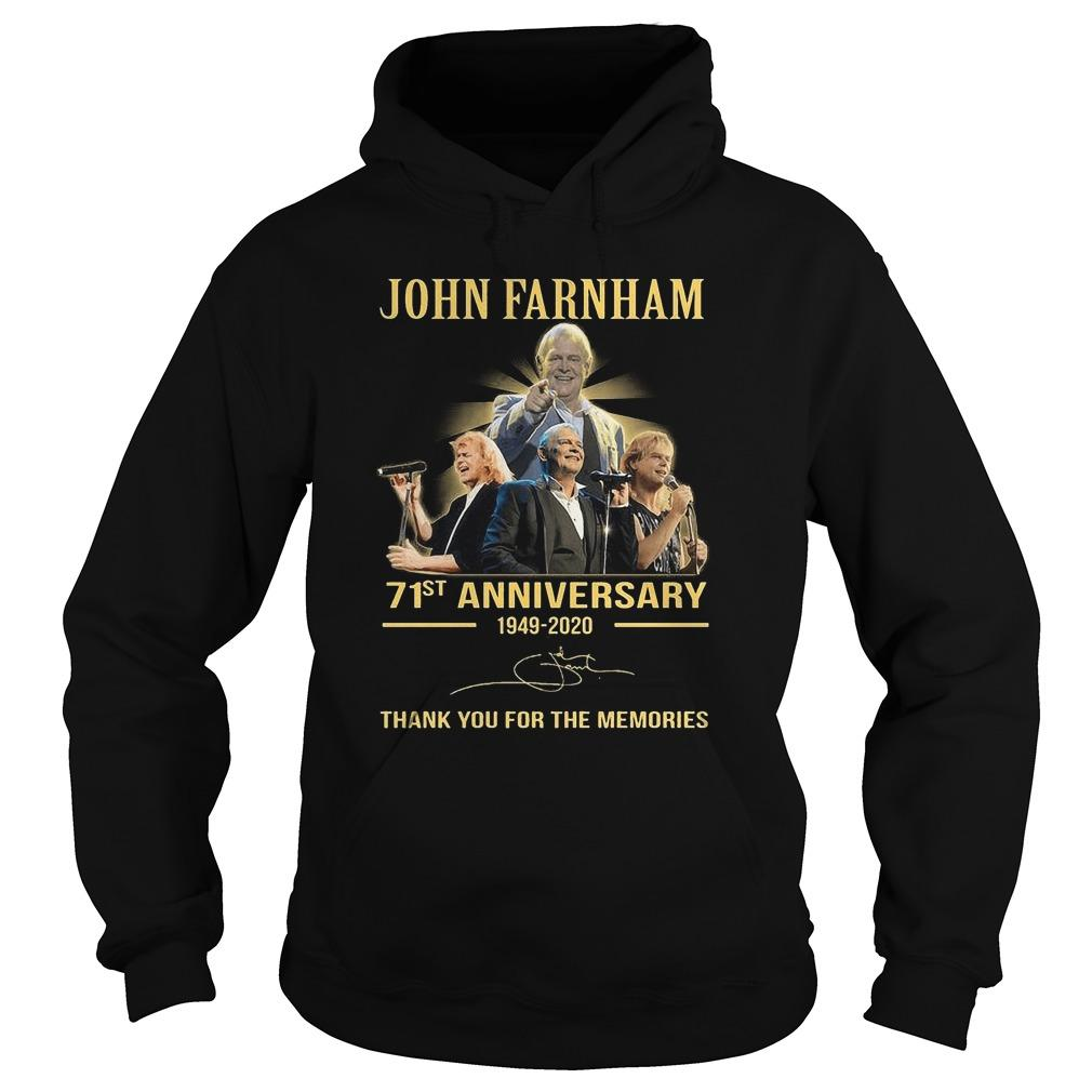 John Farnham 71st Anniversary Thank You For The Memories Hoodie