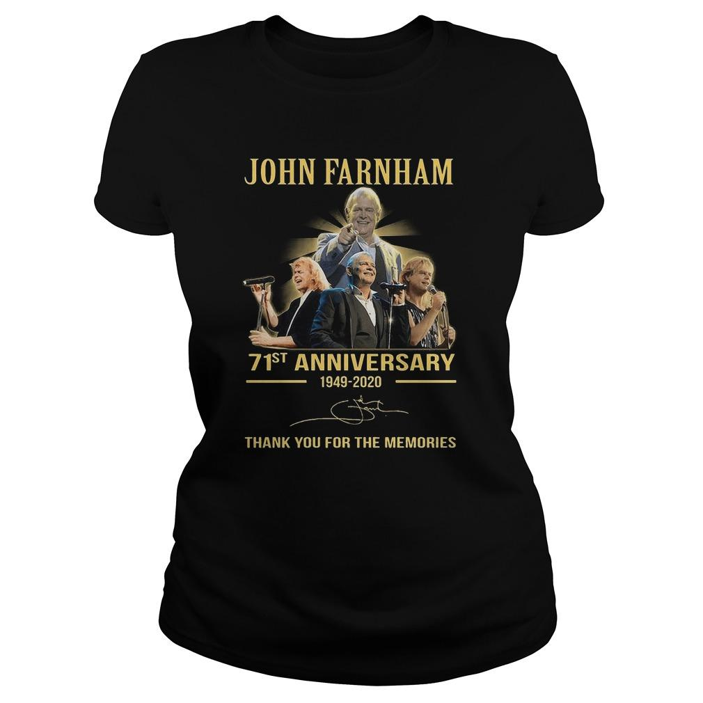 John Farnham 71st Anniversary Thank You For The Memories Longsleeve