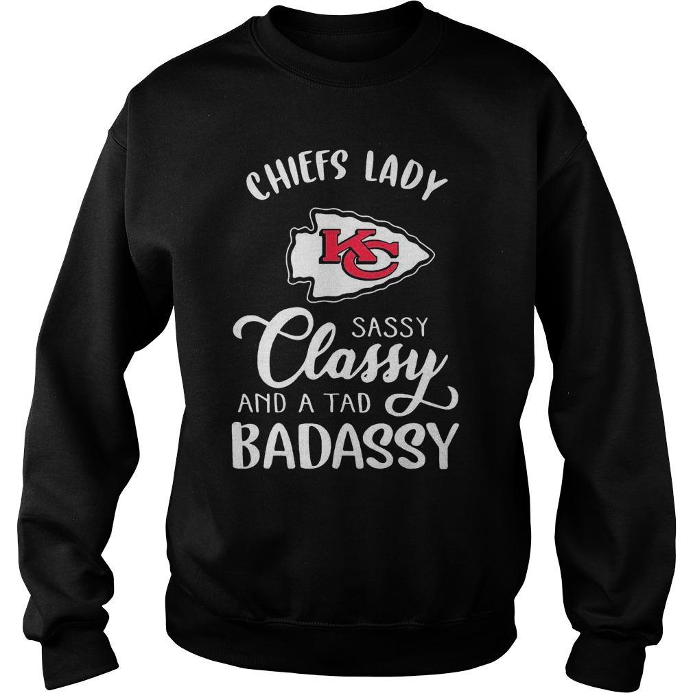Kansas City Chiefs Lady Sassy Classy And A Tad Bad Assy Sweater