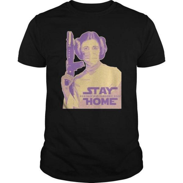 Leia Organa Face Mask Stay Coronavirus Pandemic 2020 Home Shirt