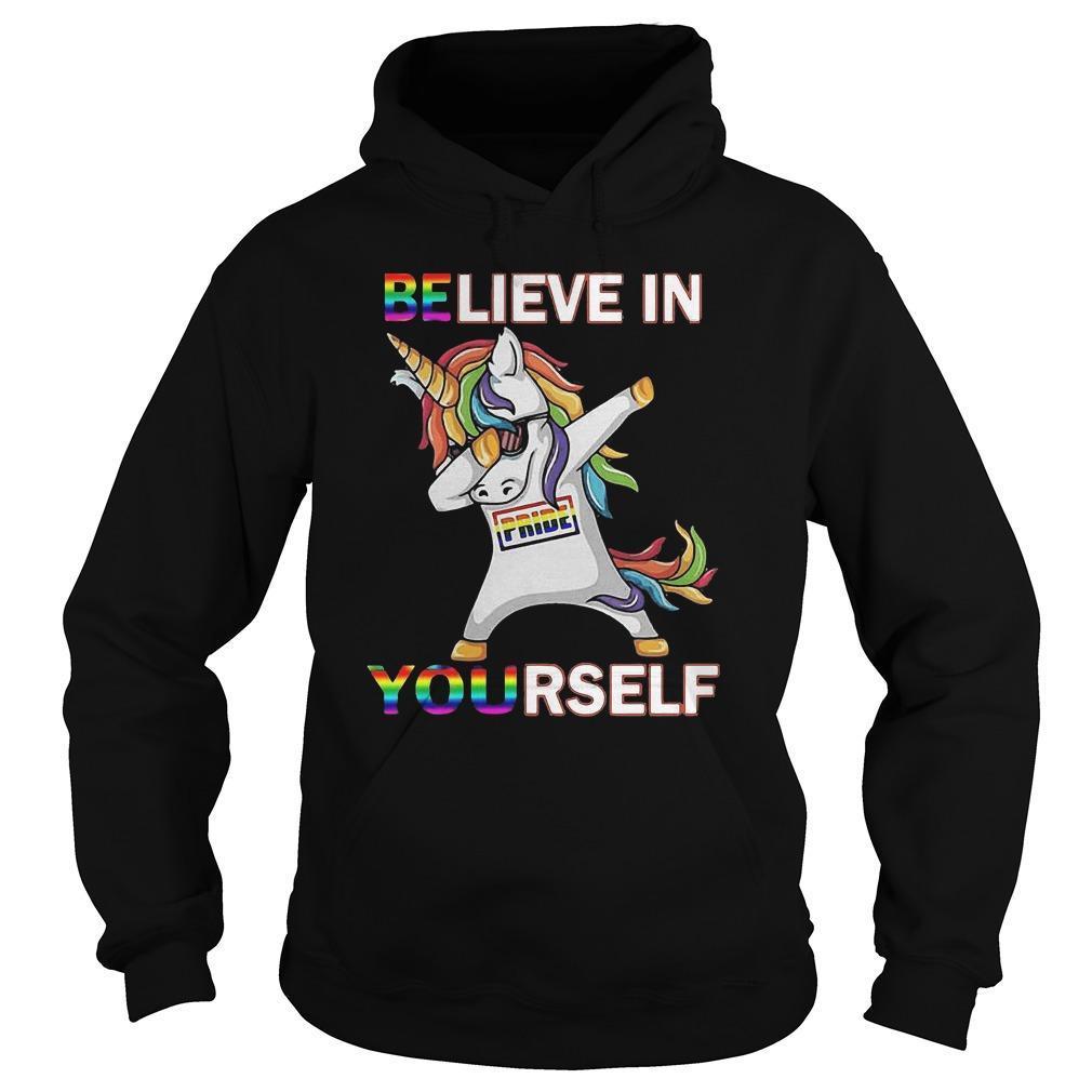 Lgbt Dabbing Unicorn Believe In Yourself Pride Hoodie