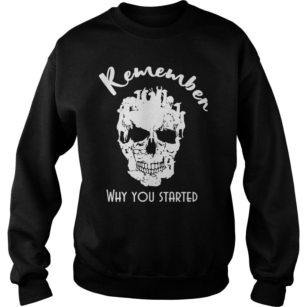 Llama Skull Remember Why You Started Sweater