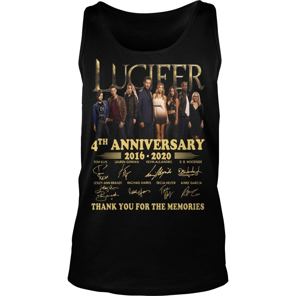 Lucifer 4th Anniversary Thank You For The Memories Tank Top