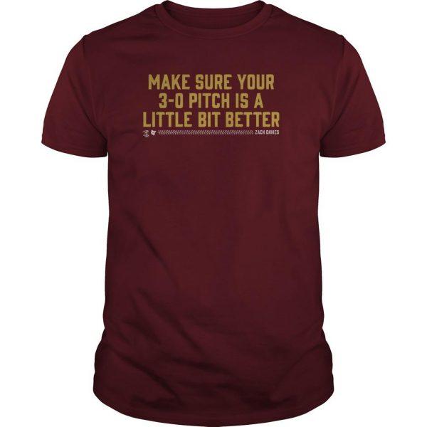 Make Sure Your 3 0 Pitch Is A Little Bit Better Zach Davies Shirt