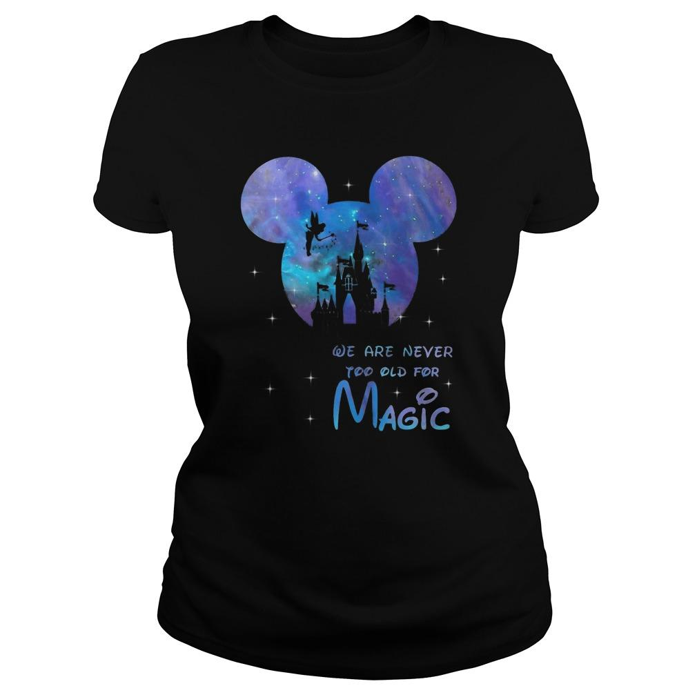 Mickey Mouse We Are Never Too Old For Magic Tank Top