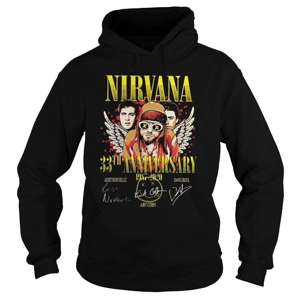 Nirvana 33th Anniversary 1987 2020 Signatures Hoodie