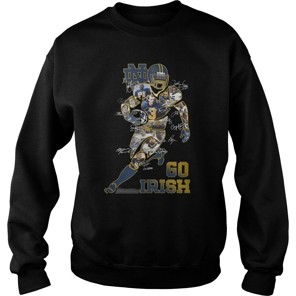 Notre Dame Signatures Go Irish Sweater