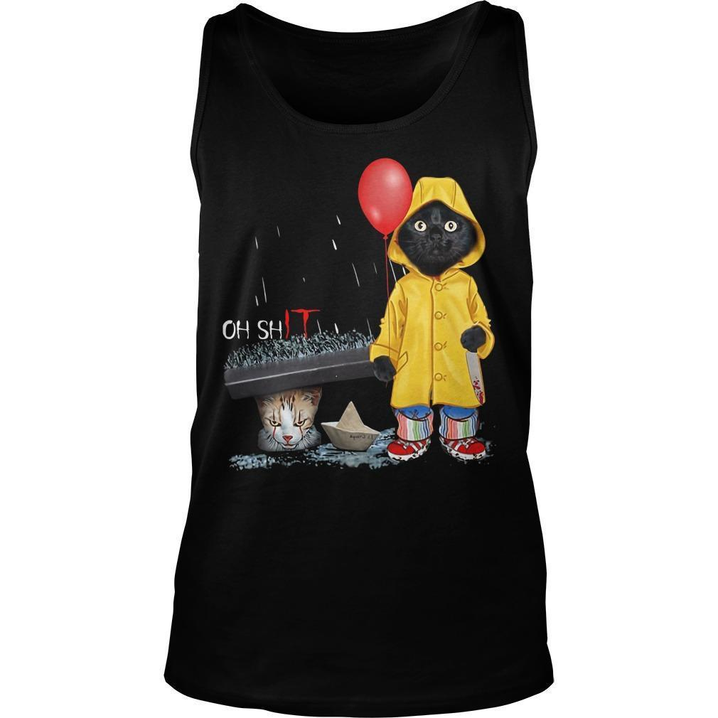 Pennywise Black Cat Oh Shit Tank Top