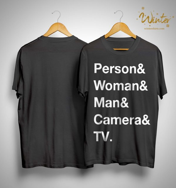 Person Woman Man Camera T Shirt