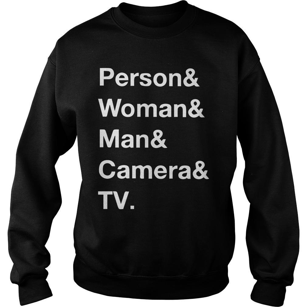 Person Woman Man Camera T Sweater