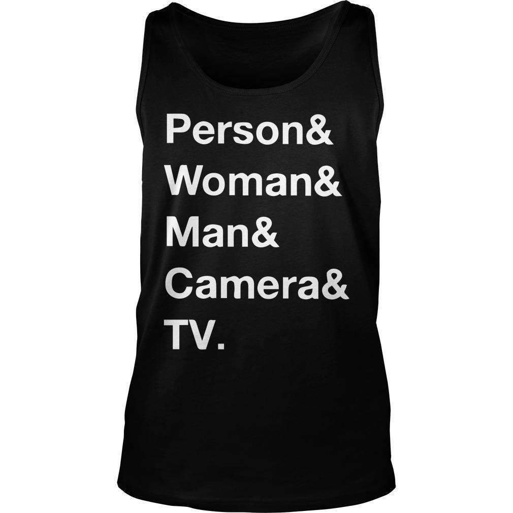 Person Woman Man Camera T Tank Top
