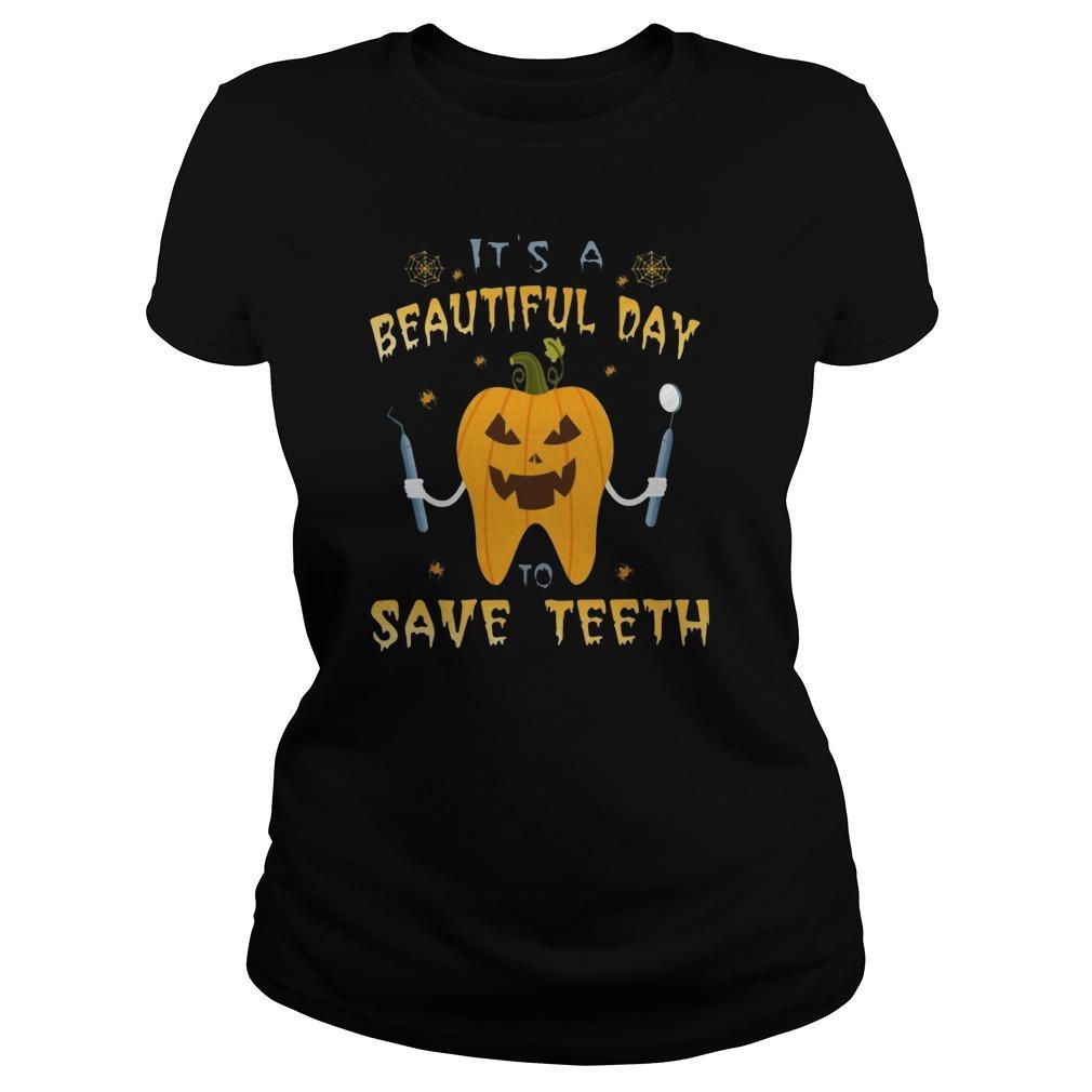 Pumpkin It's A Beautiful Day Save Teeth Hoodie