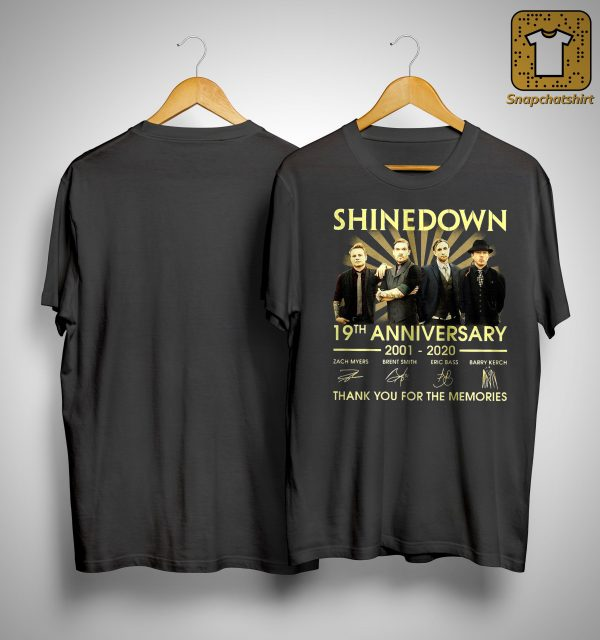 Shinedown 19th Anniversary Thank You For The Memories Shirt