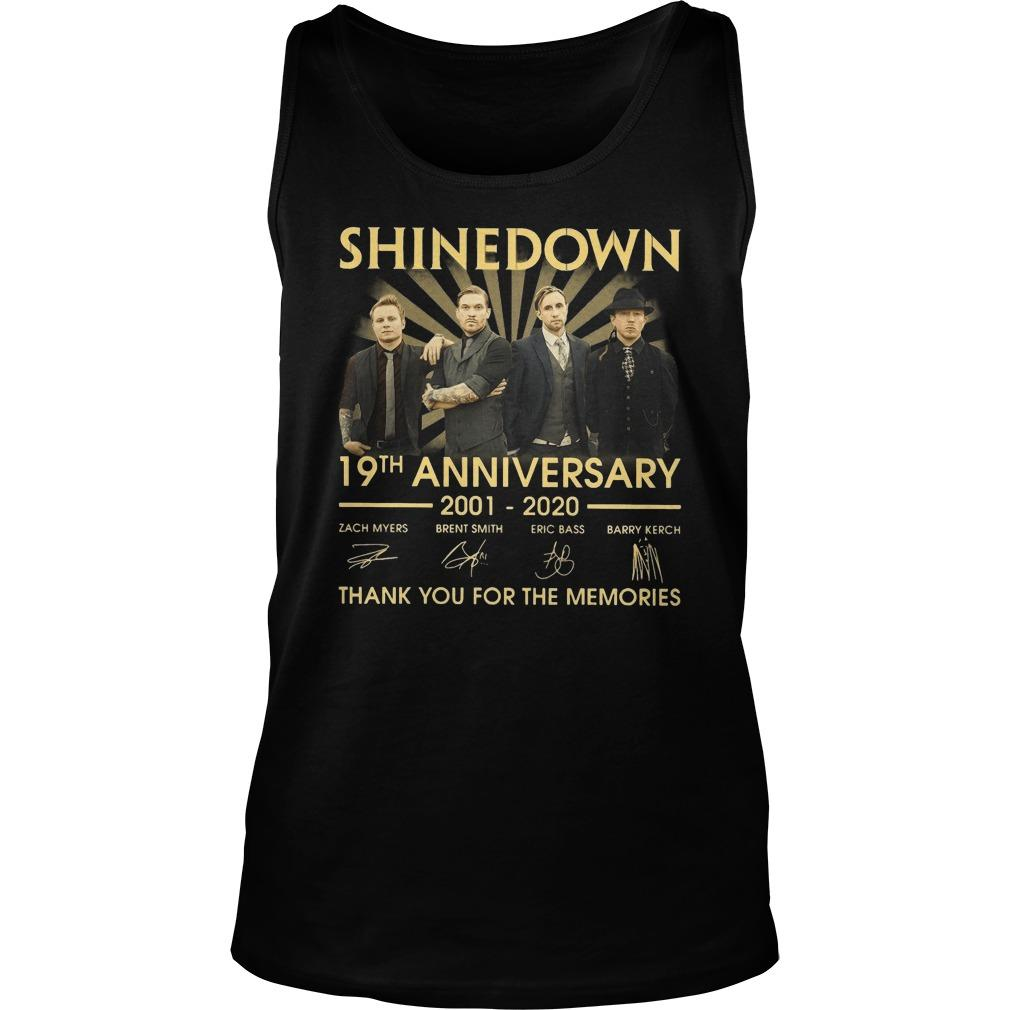 Shinedown 19th Anniversary Thank You For The Memories Tank Top