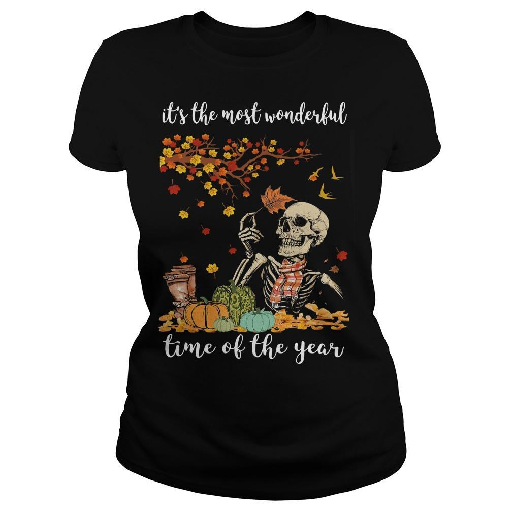 Skull It's The Most Wonderful Time Of The Year Longsleeve