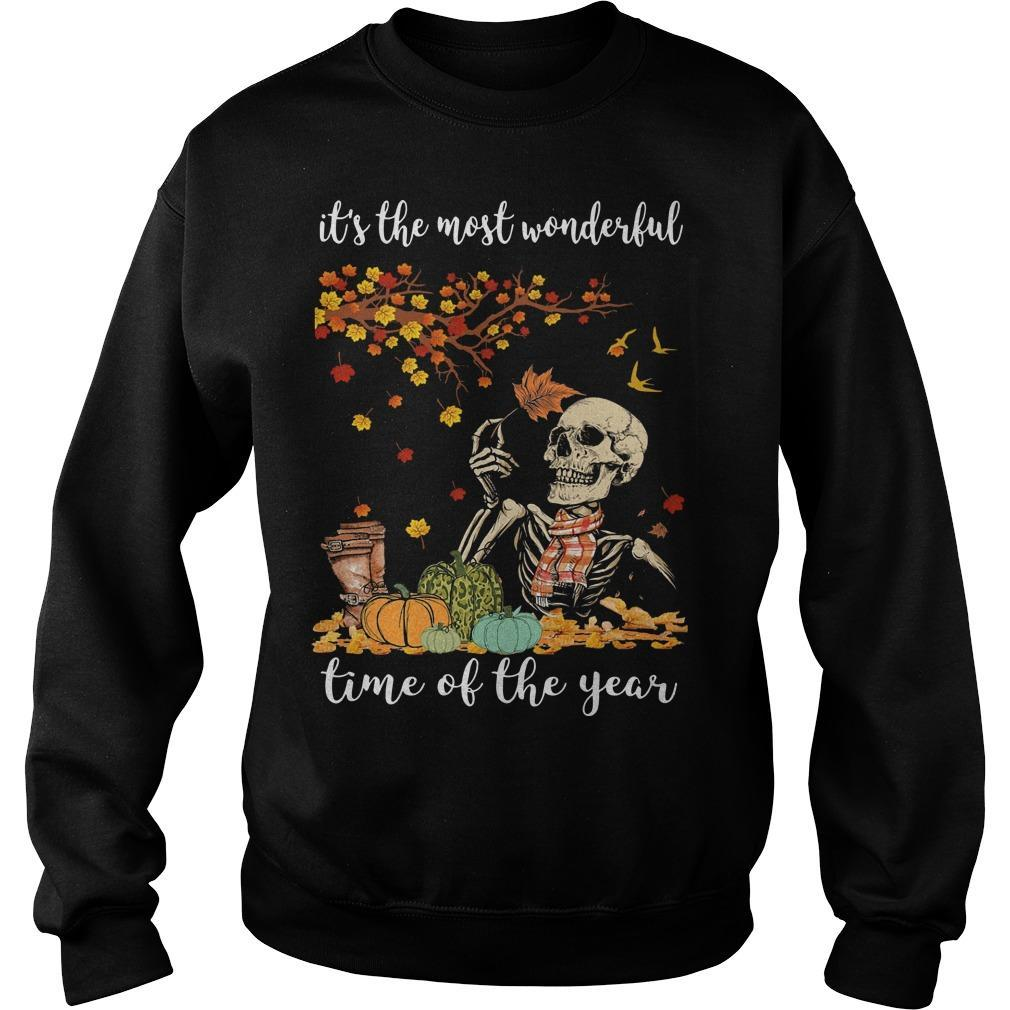 Skull It's The Most Wonderful Time Of The Year Sweater
