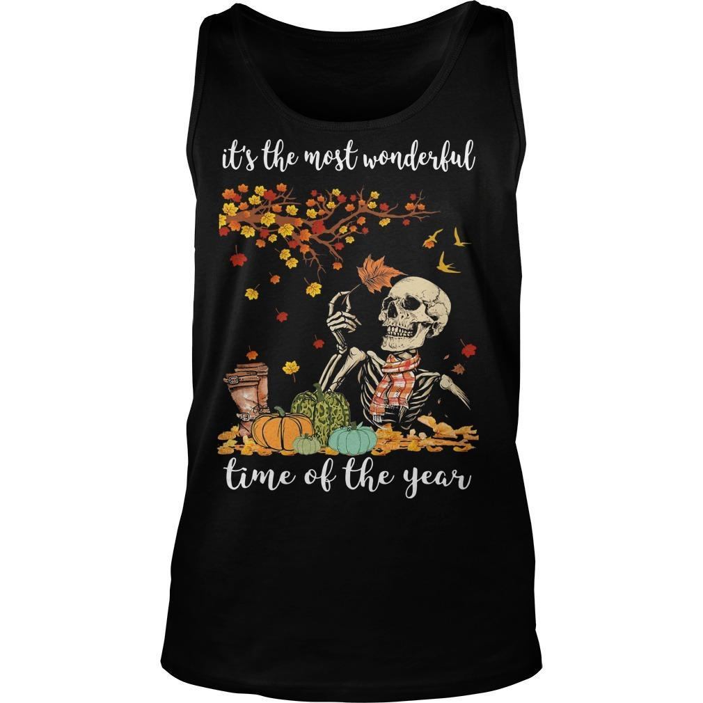 Skull It's The Most Wonderful Time Of The Year Tank Top