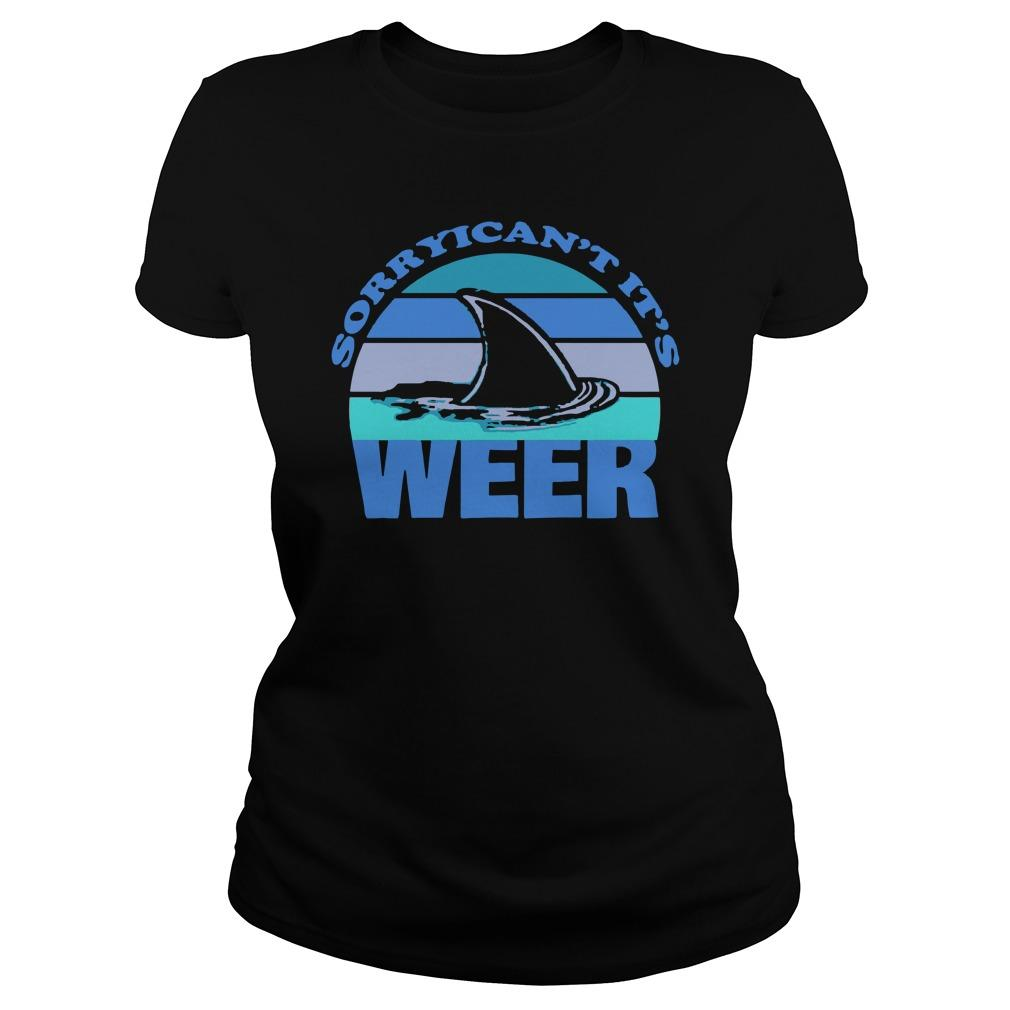 Sorry I Can't It's Week Shark Week Longsleeve