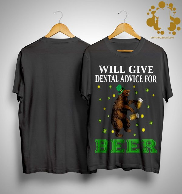 St Patrick's Bear Will Give Dental Advice For Beer Shirt