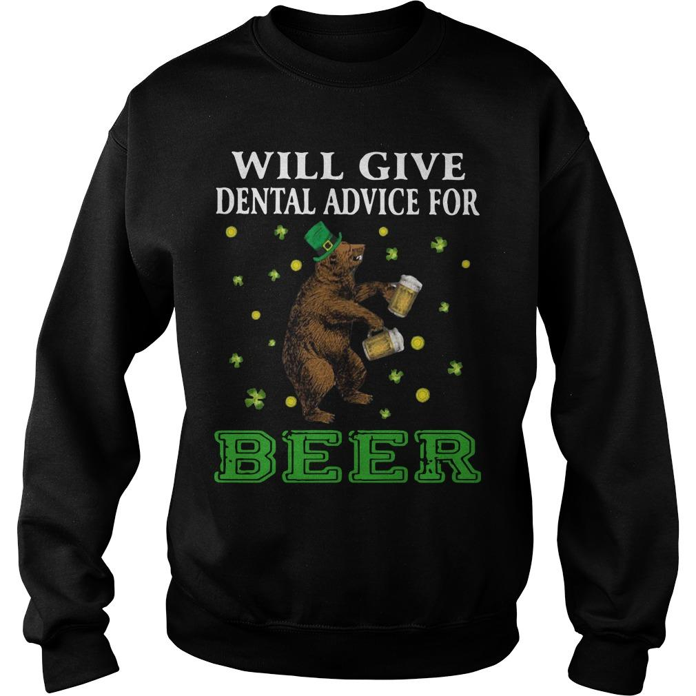 St Patrick's Bear Will Give Dental Advice For Beer Sweater