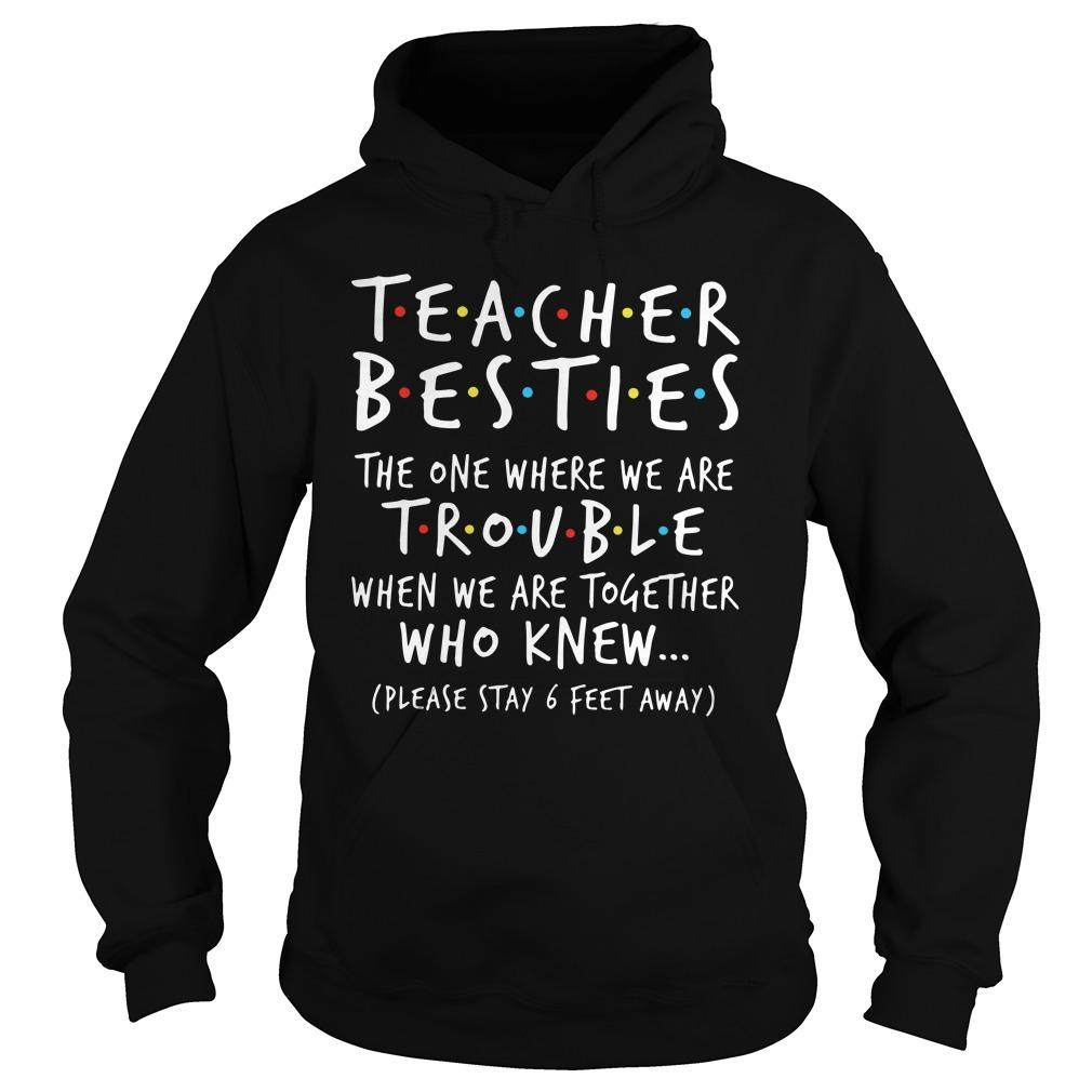Teacher Besties The One Where We Are Trouble When We Are Together Hoodie