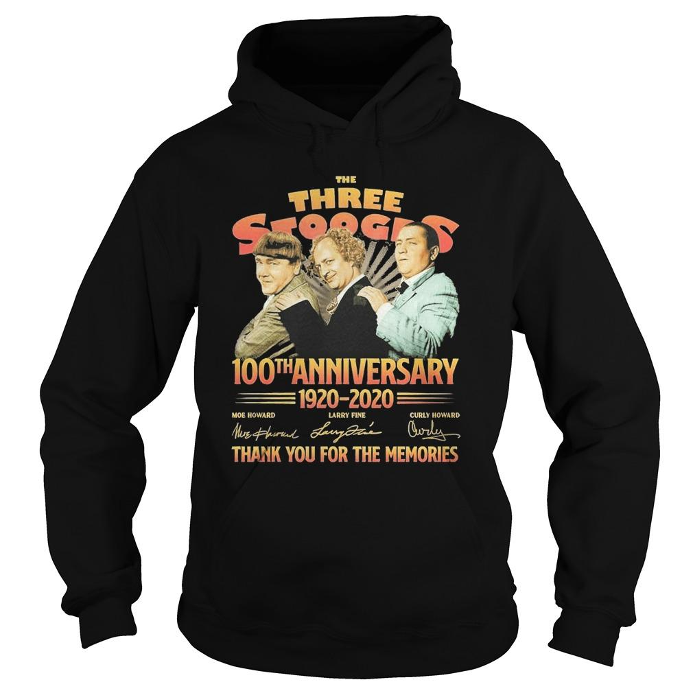 The Three Stooges 100th Anniversary 1920 2020 Signatures Hoodie