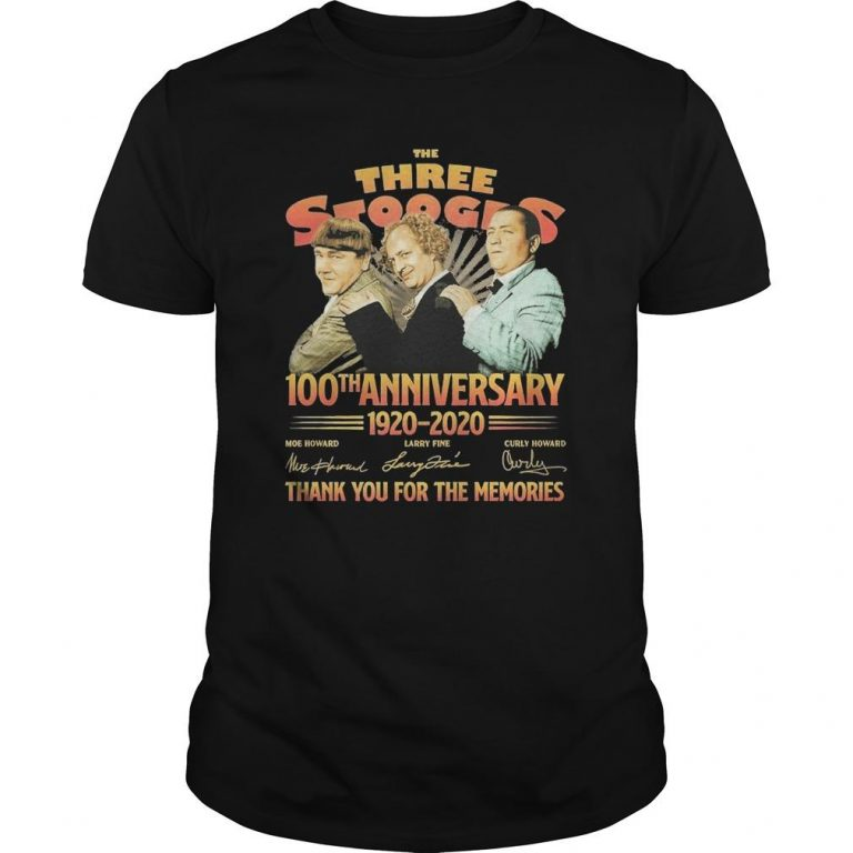 The Three Stooges 100th Anniversary 1920 2020 Signatures Shirt