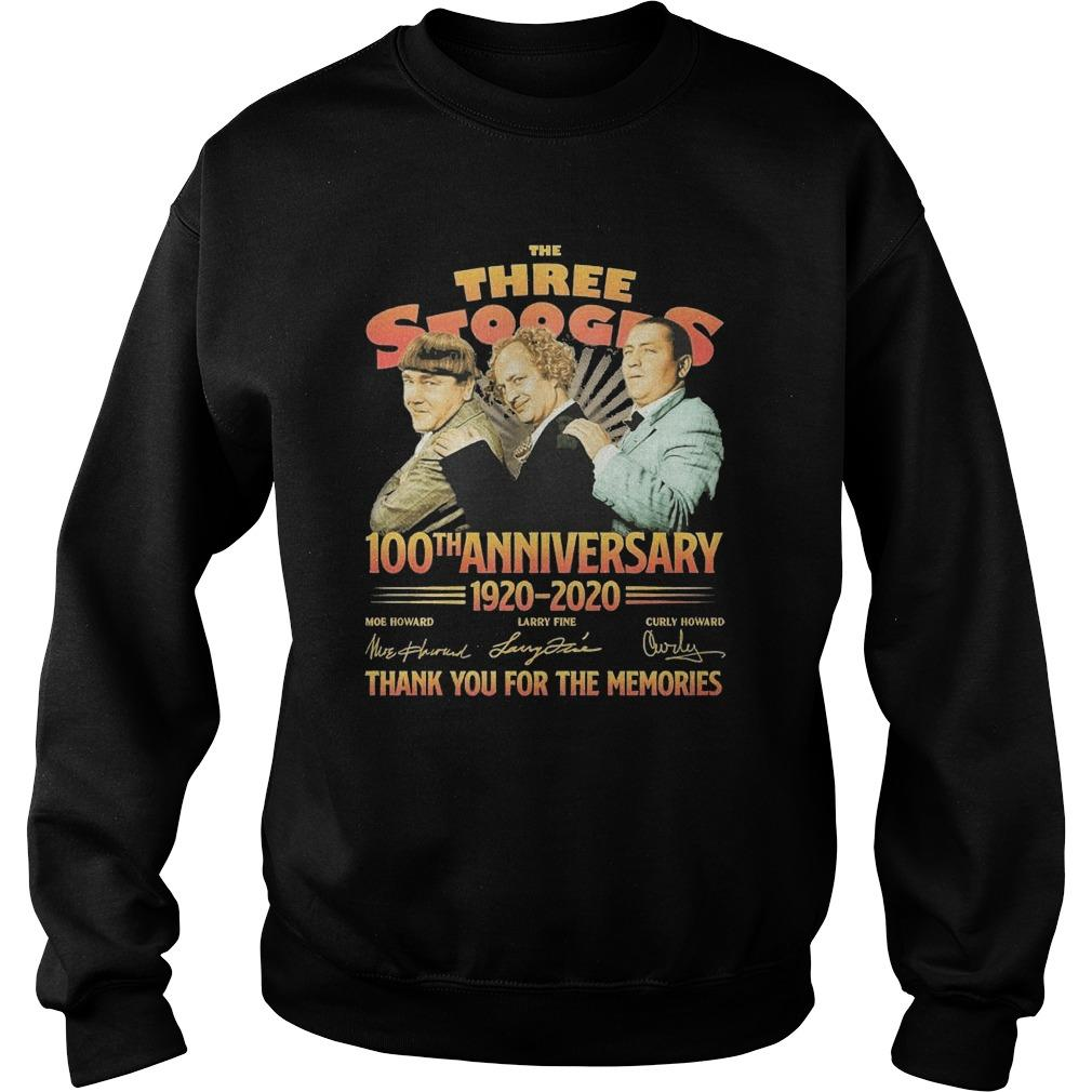 The Three Stooges 100th Anniversary 1920 2020 Signatures Sweater