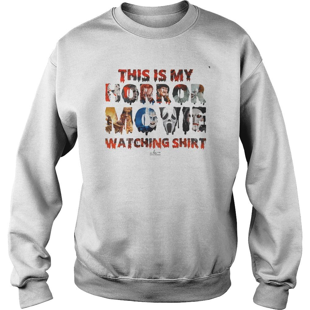 This Is My Horror Movie Watching Sweater