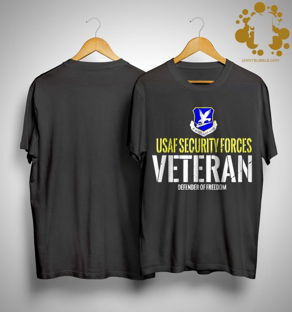 Usaf Security Forces Veteran Defender Of Freedom Shirt