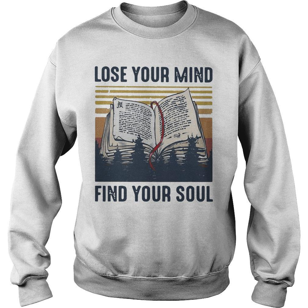 Vintage Books Lose Your Mind Find Your Soul Sweater