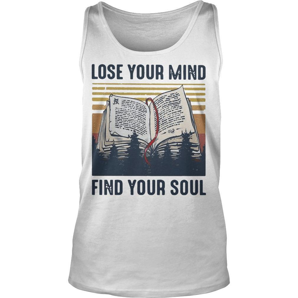 Vintage Books Lose Your Mind Find Your Soul Tank Top