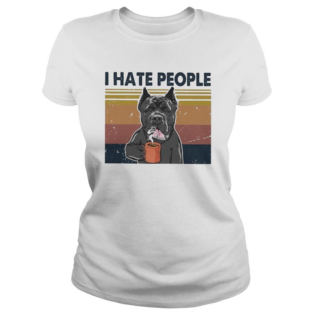 Vintage Bull Dog I Hate People Longsleeve