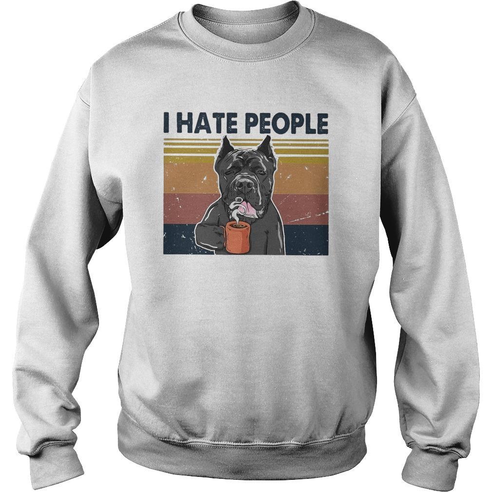 Vintage Bull Dog I Hate People Sweater