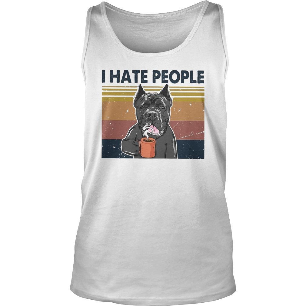 Vintage Bull Dog I Hate People Tank Top