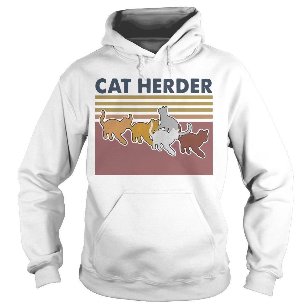 Vintage Cat Herder Hoodie