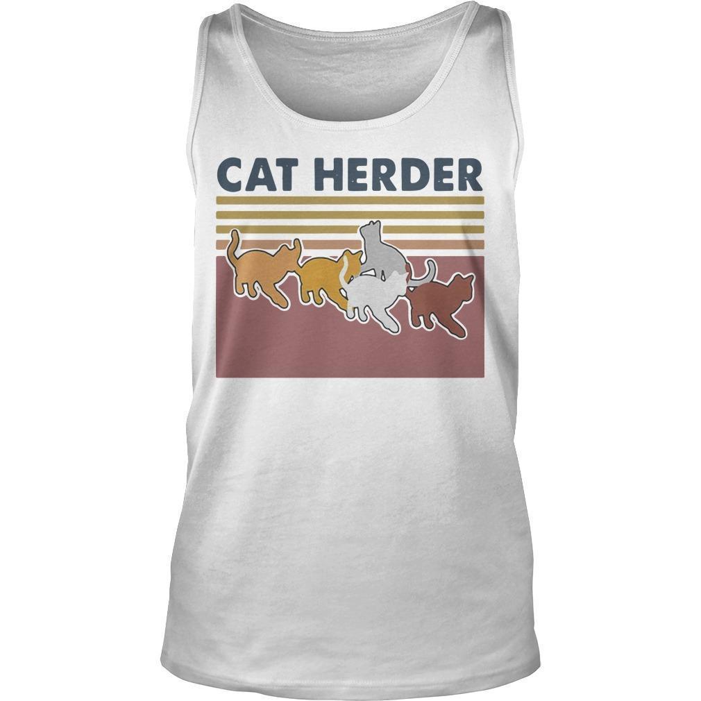 Vintage Cat Herder Tank Top