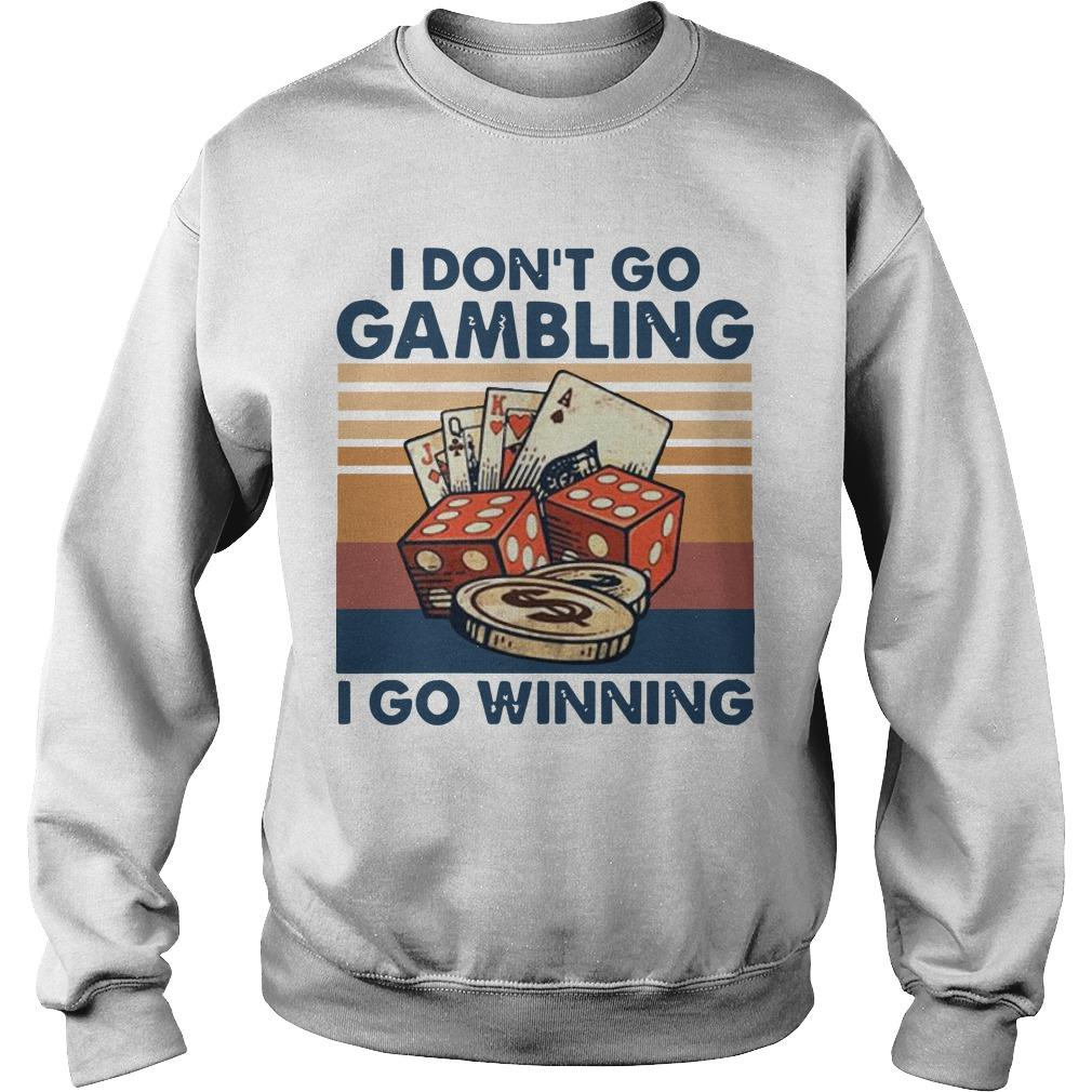 Vintage I Don't Go Gambling I Go Winning Sweater