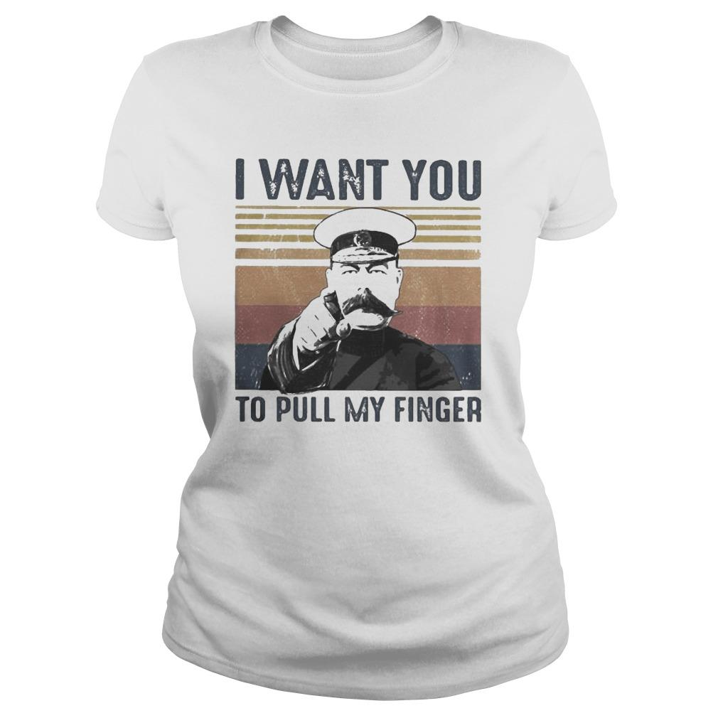 Vintage I Want You To Pull My Finger Longsleeve
