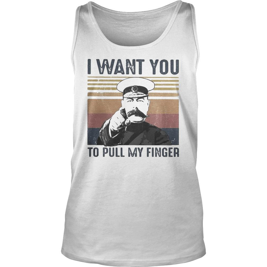 Vintage I Want You To Pull My Finger Tank Top