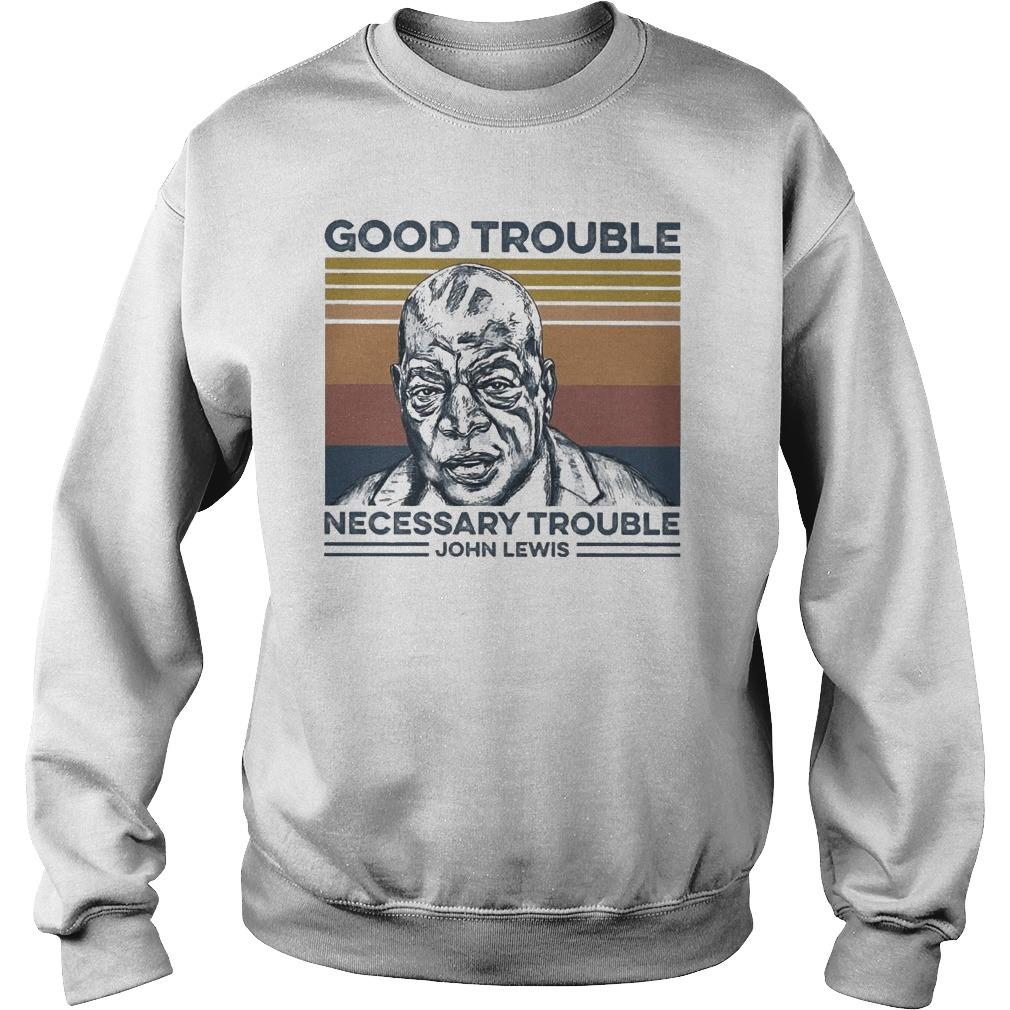 Vintage John Lewis Good Trouble Necessary Trouble Sweater