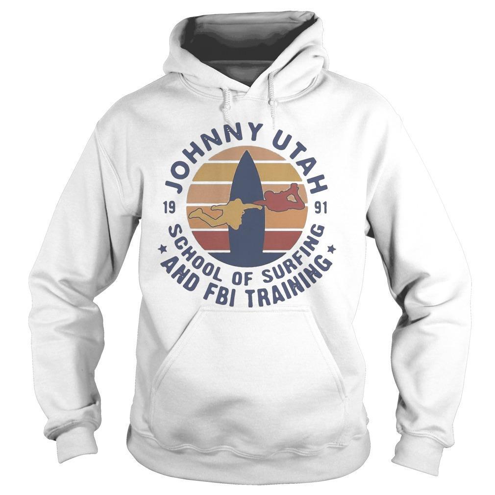 Vintage Johnny Utah 1991 School Of Surfing And Fbi Training Hoodie