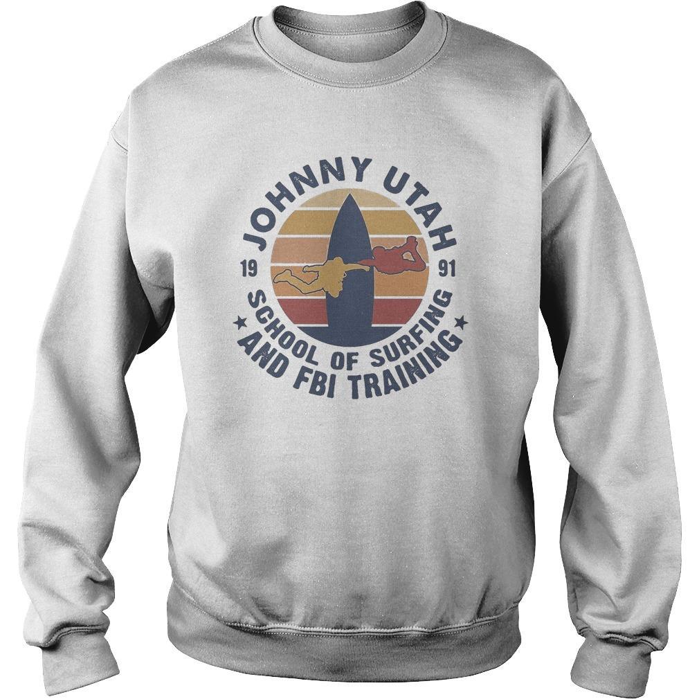 Vintage Johnny Utah School Of Surfing And Fbi Training Sweater