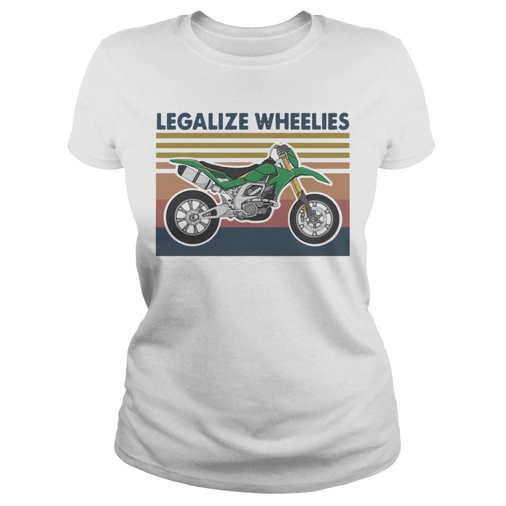 Vintage Motocross Legalize Wheelies Longsleeve