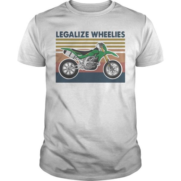 Vintage Motocross Legalize Wheelies Shirt
