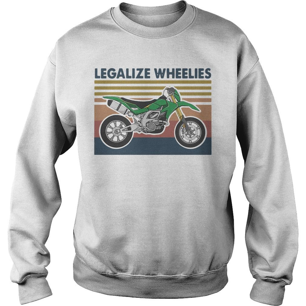 Vintage Motocross Legalize Wheelies Sweater