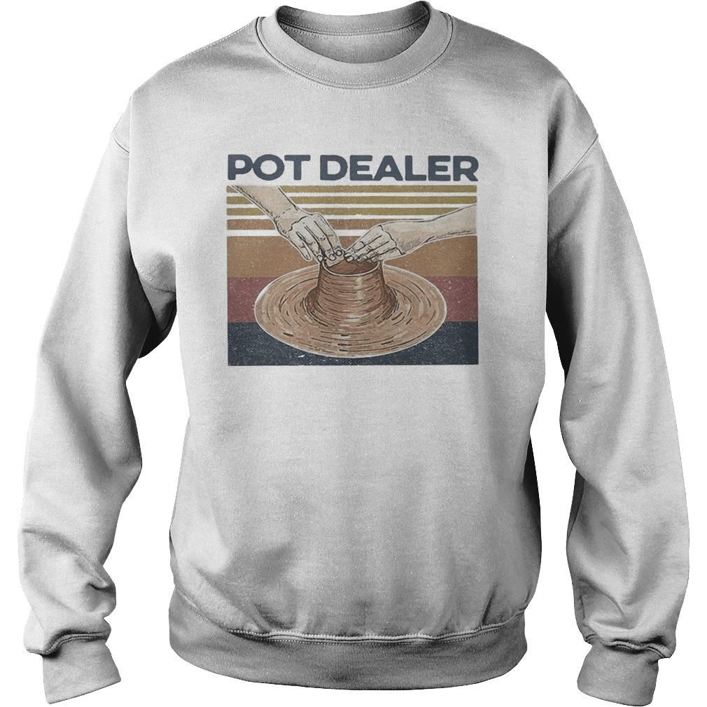 Vintage Pottery Pot Dealer Sweater