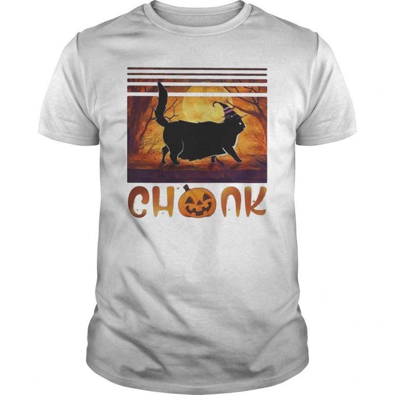 Vintage Pumpkin Halloween Cat Chonk Shirt