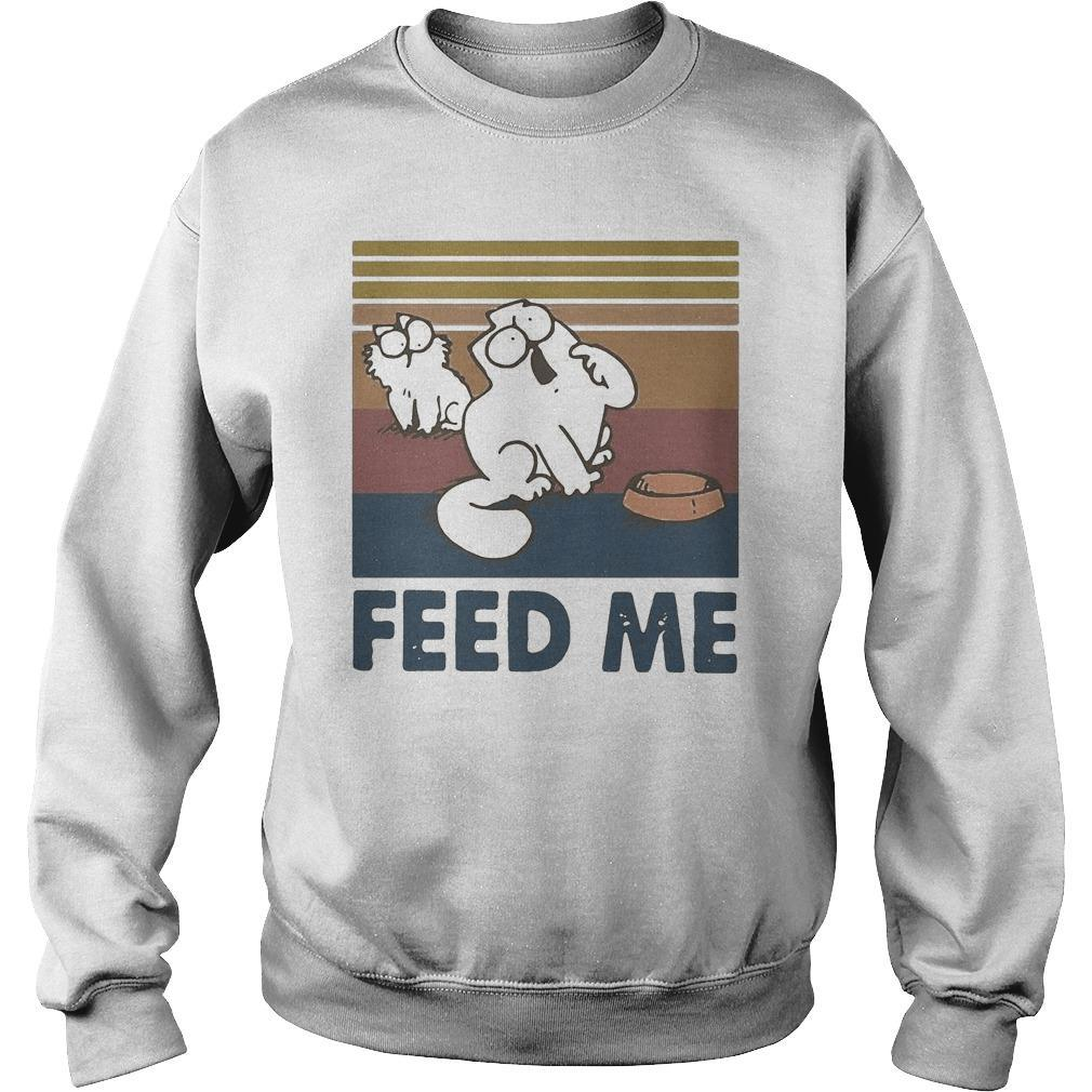 Vintage Simon's Cat Feed Me Sweater