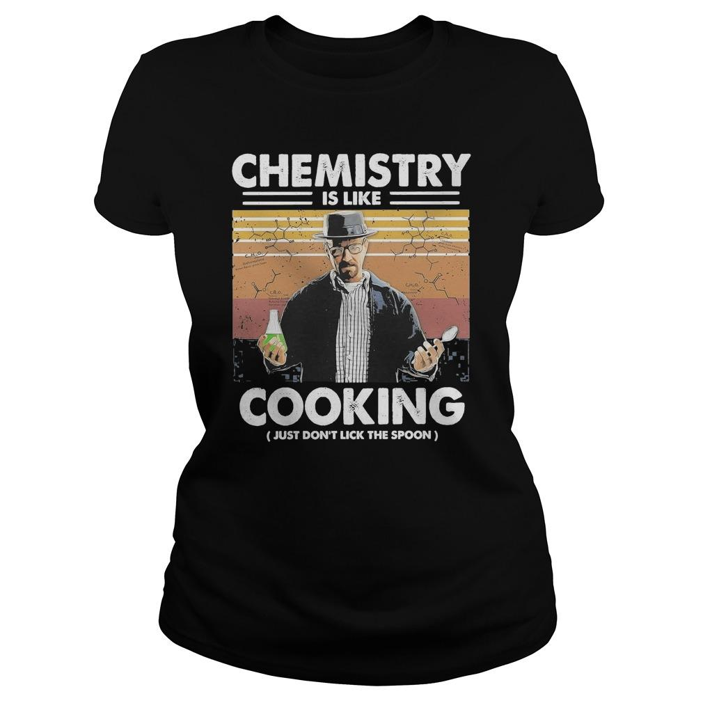 Vintage Walter White Chemistry Is Like Cooking Just Don't Lick The Spoon Longsleeve